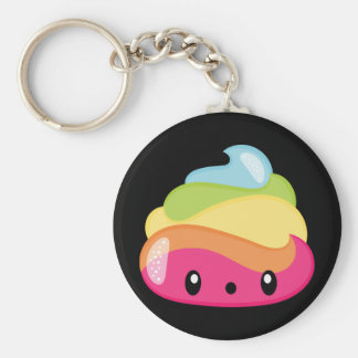 Emoji Raimbow Poop! Keychain