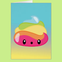 Emoji Rainbow Poop! Card
