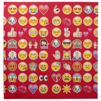 emoji rojo servilleta imprimida