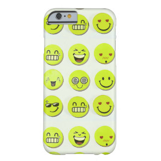 Emoji set happy smile faces cartoon artwork yellow barely there iPhone 6 case