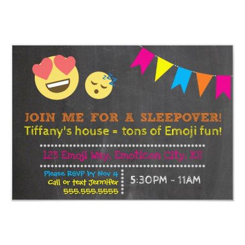 Emoji Sleepover Birthday Invitation