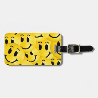 Emoji Smiley Face Bag Tag