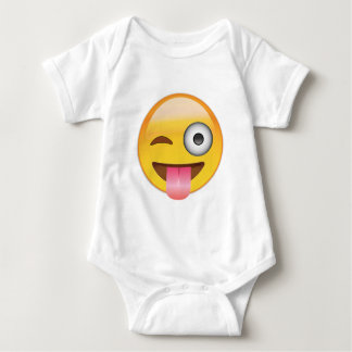 Emoji - Smiley Face With Tongue Baby Bodysuit