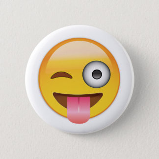 Emoji - Smiley Face With Tongue Button