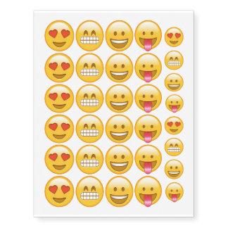 Emoji smiley temporary funny tattoos
