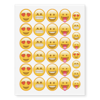 Emoji smiley temporary funny tattoos temporary tattoos