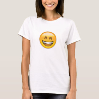 Emoji Smiling Face Open Mouth And Smiling Eyes T-Shirt