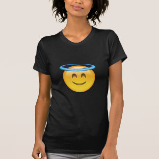 EMOJI SMILING FACE WITH HALO TEE SHIRT