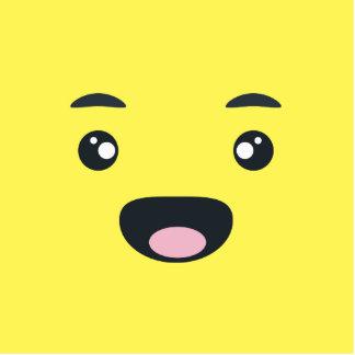 Emoji sonriente adorno fotoescultura