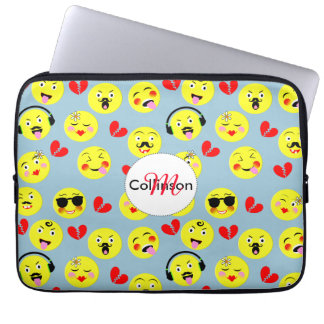 Emoji Style Fun Cute Trendy Smiley Faces Computer Sleeve