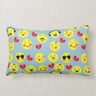Emoji Style Fun Cute Trendy Smiley Faces Lumbar Pillow