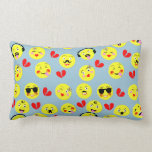 Emoji Style Fun Cute Trendy Smiley Faces Throw Pillow