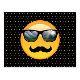 Emoji Super Shady ID230 Postcard