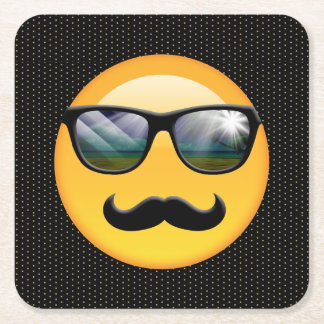 Emoji Super Shady ID230 Square Paper Coaster