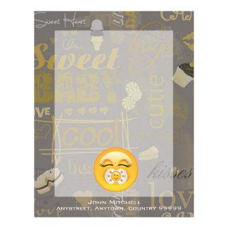 Emoji Sweet Baby ID231 Letterhead
