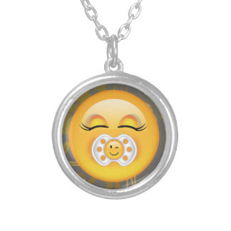 Emoji Sweet Baby ID231 Silver Plated Necklace