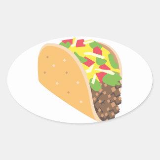 emoji taco oval sticker