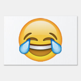 Emoji - Tears Of Joy Yard Sign