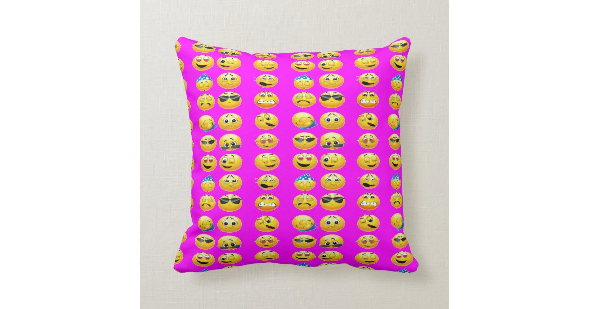 Decorative Pillows For Dorm Rooms : EMOJI THROW PILLOWS DORM ROOM BED PILLOWS Zazzle