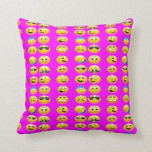 Throw Pillows Dorm Room : EMOJI THROW PILLOWS DORM ROOM BED PILLOWS Zazzle