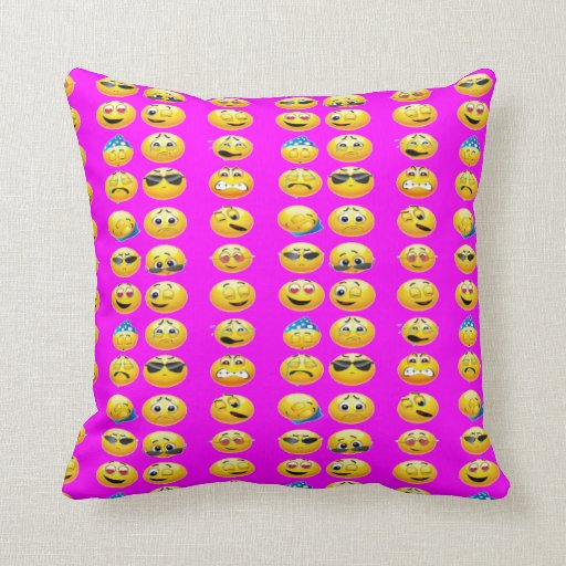 Emoji throw pillows dorm room bed pillows zazzle for Emoji bedroom ideas