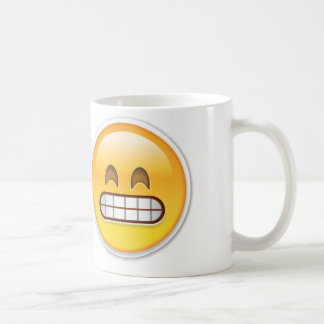 Emoji torpe taza básica blanca