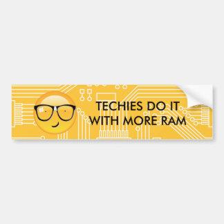 Emoji Totally Techie ID229 Bumper Sticker