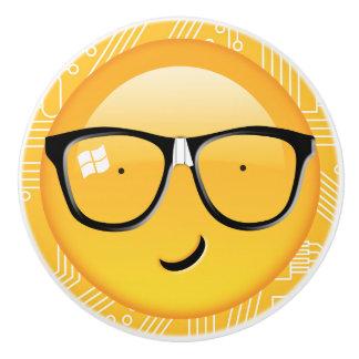 Emoji Totally Techie ID229 Ceramic Knob