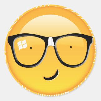 Emoji Totally Techie ID229 Classic Round Sticker