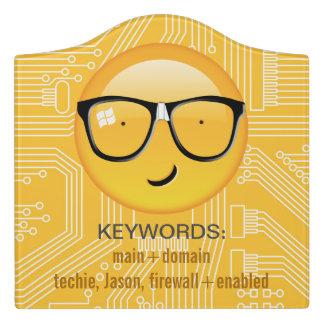 Emoji Totally Techie ID229 Door Sign