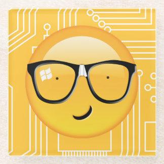 Emoji Totally Techie ID229 Glass Coaster