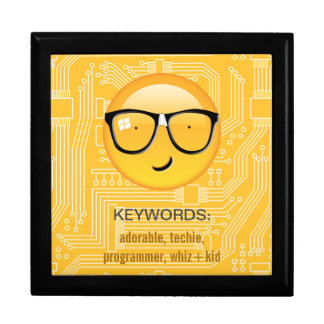 Emoji Totally Techie ID229 Keepsake Box