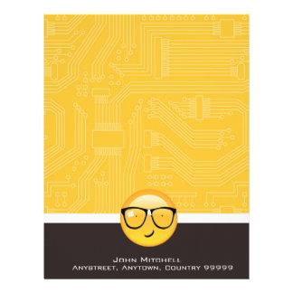 Emoji Totally Techie ID229 Letterhead