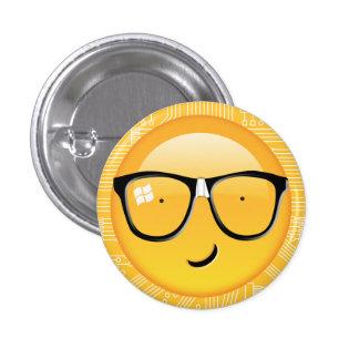 Emoji Totally Techie ID229 Pinback Button