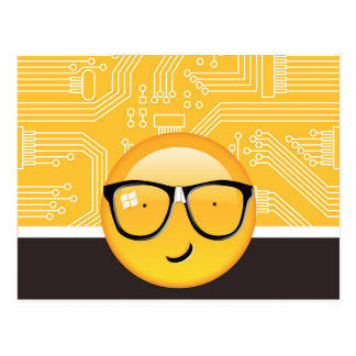 Emoji Totally Techie ID229 Postcard