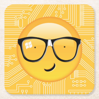 Emoji Totally Techie ID229 Square Paper Coaster