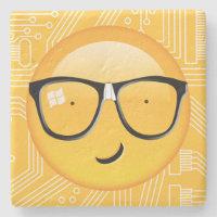 Emoji Totally Techie ID229 Stone Coaster