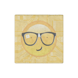 Emoji Totally Techie ID229 Stone Magnet