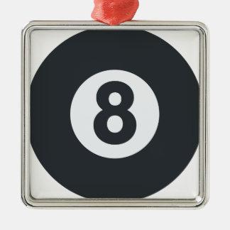 Emoji Twitter - Eight ball Pool Adorno Navideño Cuadrado De Metal