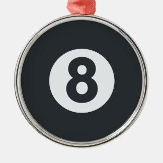Emoji Twitter - Eight ball Pool Adorno Navideño Redondo De Metal