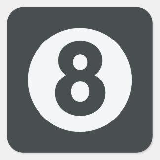 Emoji Twitter - Eight ball Pool Square Sticker