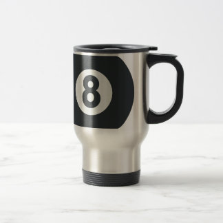 Emoji Twitter - Eight ball Pool Travel Mug