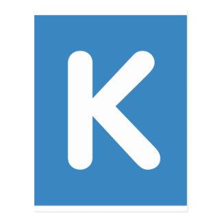 Emoji Twitter - Letter K Tarjeta Postal