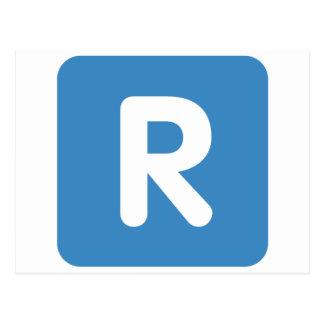 Emoji Twitter Letter R Tarjetas Postales