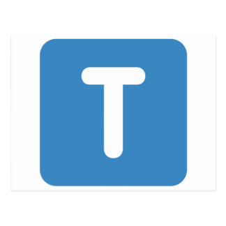 Emoji Twitter - Letter T Postales