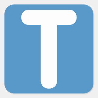 Emoji Twitter - Letter T Square Sticker