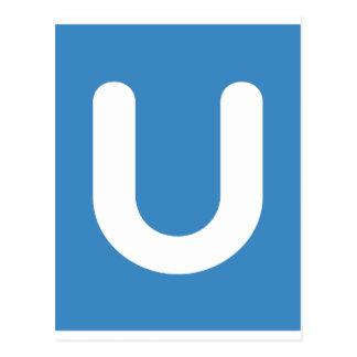 Emoji Twitter - Letter U Postcard