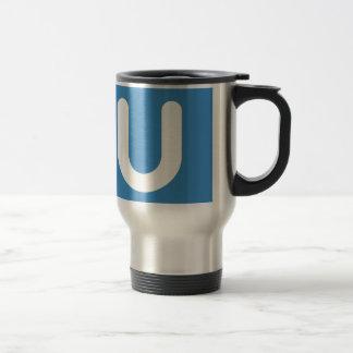 Emoji Twitter - Letter U Travel Mug