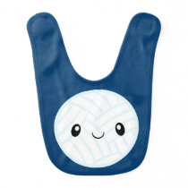 Emoji Volleyabll Baby Bib