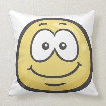 Emoji: White Smiling Face Pillow